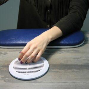 Подставка для рук плоская синяя